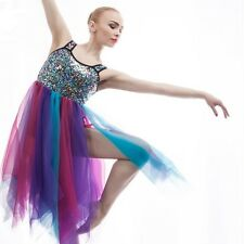 6a3bfe60f Multi sequinned lyrical ballet dance performance costume new size xlc  (child)