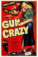 GUN CRAZY Movie POSTER 27x40 Peggy Cummins John Dall Berry Kroeger Morris
