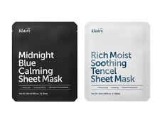 [KLAIRS] RICH MOIST SOOTHING TENCEL & MIDNIGHT BLUE CALMING 2SHEET MASK