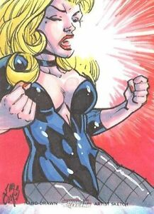 Cryptozoic Women Of Legend Color Sketch Card Of Black Canary By Daniel Campos