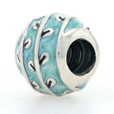 Authentic Pandora Blue Vines Charm Sterling Silver Floral Enamel Charm 790525E18