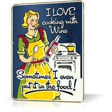 METAL TIN SIGN Retro Vintage Funny Decor Home Wall Poster Garage Kitchen Woman