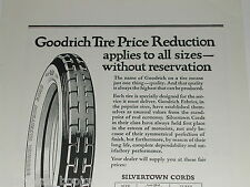 1921 Goodrich Tire advertisement, Silvertown Cord tires, prices