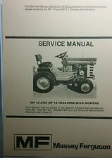 Massey Ferguson MF/10 &12 Garden Tractor Major Overhaul Repair Service Manual HP