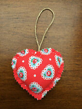 Handcrafted Shabby Chic Fabric Heart Door Hanger – Cath Kidston Sweetheart Rose