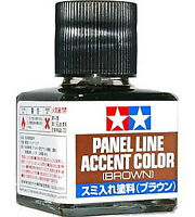 TAMIYA 87132 Panel Line Accent Color Brown For Plastic Model Kit
