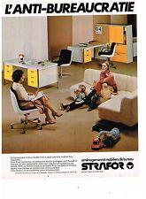 PUBLICITE ADVERTISING  054  1979  STRAFOR   mobilier bureau 7