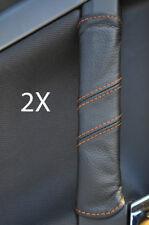 FITS VECTRA C 2X DOOR HANDLE COVERS orange stitch