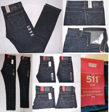 Levis 511 Mens Slim Fit Stretch Jeans Blue 33X30,32X32,34X34,36X32,36X34,38X32