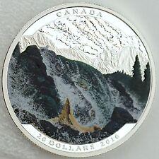 Canada 2016 $20 Landscape Illusion: Salmon, Pure Silver Color Proof Coin