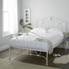 The White Company Ashwell Metal Bed Frame King White Vintage Bedroom RRP £595