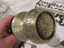 Vintage Kwikset Lockset 200C RCL RCS-5E COPA Passage Door Crackle Antique Brass