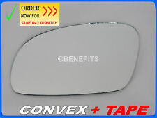 Wing Mirror Glass For VW NEW BEETLE 2003-2010 CONVEX + TAPE Left Side #1035 385
