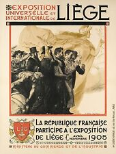 Affiche Originale - Henri Bellery-Desfontaines - Expo Universelle Liège - 1905
