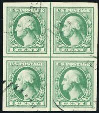 531, Used 1¢ Superb Center Line Block of Four - Stuart Katz