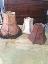 Set Of 3 Vintage Rawhide Leather Lampshade