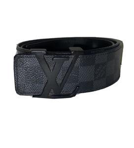 Louis Vuitton Damier Graphite Men's Black Belt Size 90/36 100% AUTHENTIC