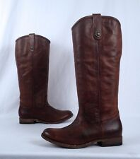 NEW!! Frye 'Melissa' Button Boot- Distressed Brown- Size 7 B Ext Calf  (B37)