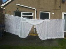 """Large Vintage Lace Curtain, Design 150"""" x 48"""", vgc"""