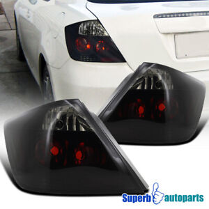 For 2004-2010 Scion tC Glossy Black Smoke Tail Lights w/ Brake Turn Signal Lamps