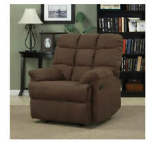 Large Furniture Recliner Microfiber Brown Relax In Living Room Couch Chair Part