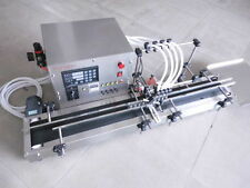 Four heads full automatic liquid filling machine 10-500ml STAINLESS