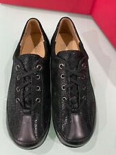 ZIERA Classic Comfortable Walking Shoe Size 42XW Black Sparkle Leather