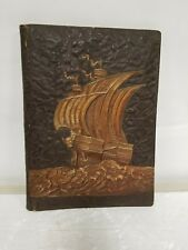 VINTAGE LARGE GERMAN LEATHER BOUND PHOTOGRAPH PORTFOLIO PHOTO HOLDER