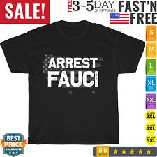 Arrest Fauci - anti Fauci - patriotic flag Dr Fauci prison T-Shirt Short Sleeve