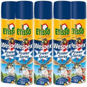 Etisso Wespen Powerspray Wespex Wespenspray Sparset 5 x 600 ml  gegen Wespen