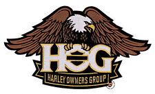 HOG EAGLE BANNER VEST PATCH 10-1/2 INCH HARLEY DAVIDSON OWNERS GROUP XL