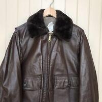 Vintage 60's SCHOTT G-I-675-M Flight Bomber Motorcycle Leather Jacket Size 40