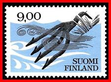 FINLAND 1984 ANCIENT FISH SPEAR MNH SC#640 phosphor (E15)