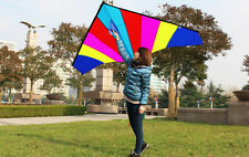 1.8m 5.9ft Rainbow Triangle Delta Kite Outdoor Fun Sports Children's Toys NEW