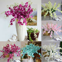 ALS_ Artificial Fake Orchid Flower Plant Home Office Wedding Party Ornament Hot