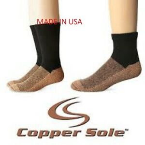 "COPPER SOLE  Premium Ankle Sock Unisex    ""MADE IN USA"" --- ANTIFUNGAL---"