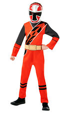 Fancy Dress Costume ~ Boys Ninja Steel Red Power Ranger Childs Ages 3-8 Years