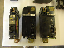 Lot of 3 Square D FA Type I-Line Circuit Breakers 2 FA26020 1 FA16020 Parts  1C4