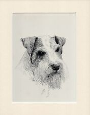 SEALYHAM TERRIER OLD 1934 DOG ART PRINT by C FRANCES WARDLE READY MOUNTED