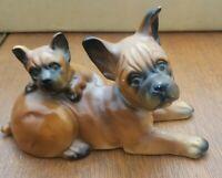 Vintage Porcelain Perhaps Boston Terrier or Bulldog Made In Japan