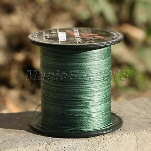 100/300/500/1000M Green Strong Dyneema Spectra Extreme Braided Sea Fishing Line