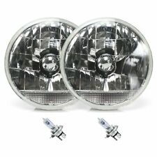 "Snake-Eye 7"" Inch Lens Assembly with H4 bulb and Clear Turn Signal Pair"