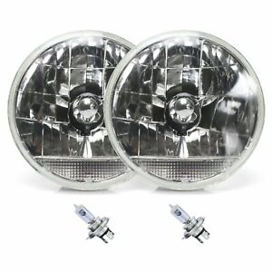 """Snake-Eye 7"""" Inch Lens Assembly with H4 bulb and Clear Turn Signal Pair"""