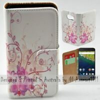 For Google Series - Purple Orchid Theme Print Wallet Mobile Phone Case Cover