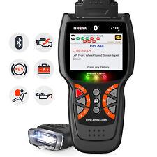 Innova 7100P Code Reader Scanner OBDII OBD 2 CAN ABS SRS Airbag Oil Battery US