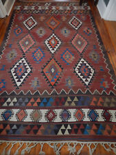 "HUGE SOUTHWEST NATIVE AMERICAN? KILIM WOOL WOVEN PERSIAN? RUG 67"" X 116"" VINTAGE"