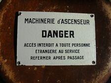 Objet Métier Plaque Tôle émaillée Signalétique Dans Immeuble Paris Vintage 1940