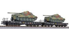 Liliput L230145 Güterwagenset Schwerlastwagen SSyms DRG mit Panzer 2x