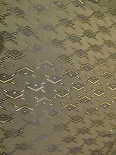 "TRUE VINTAGE 1950's taffeta fabric 46"" wide x 4 yards long Huge piece ! NEW/OLD"
