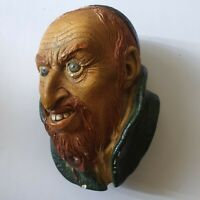 "Bossons ""Fagin Man"" Wall Plaque Congleton England Chalkware Antique"